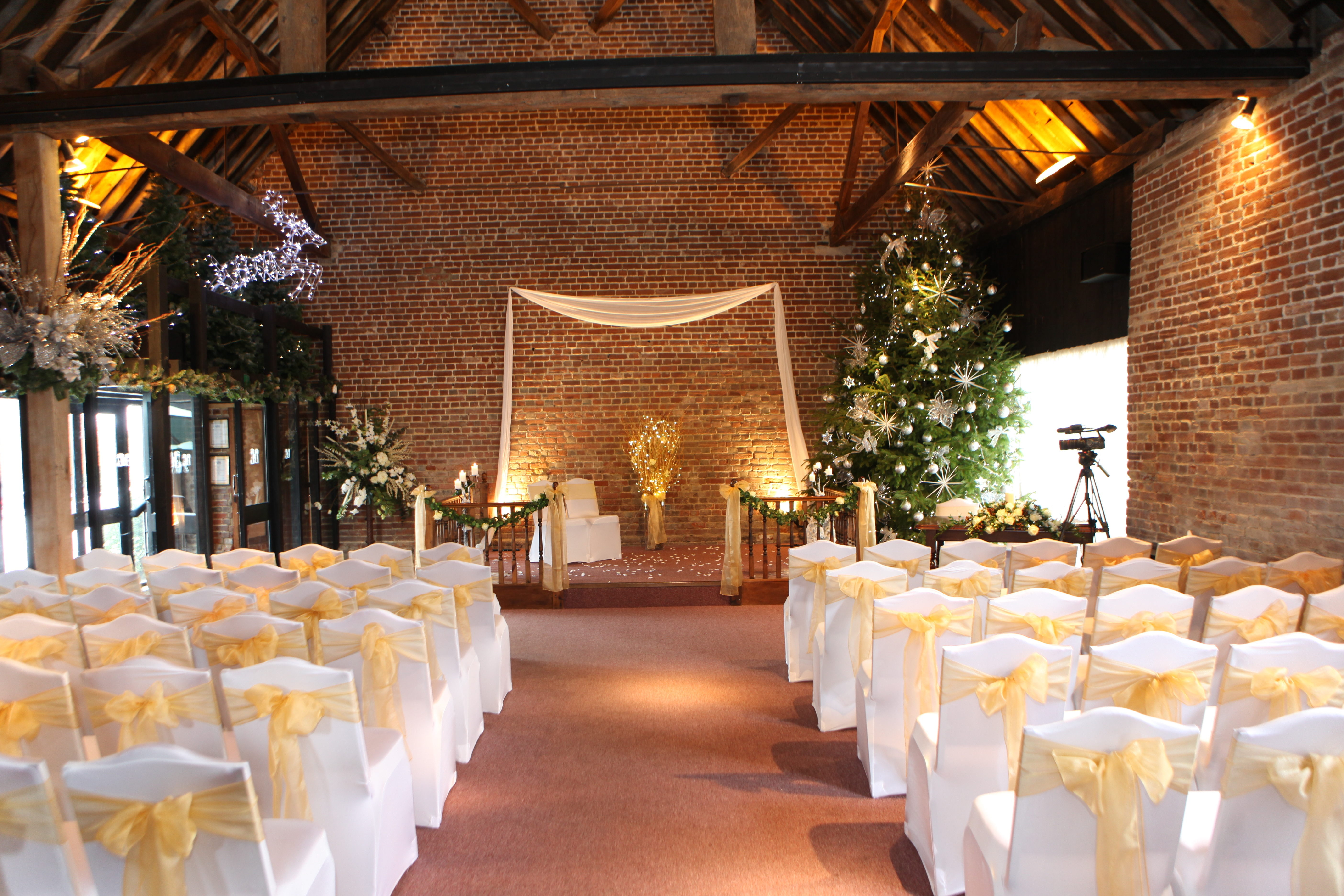 A Winter Wedding At Cooling Castle Barn