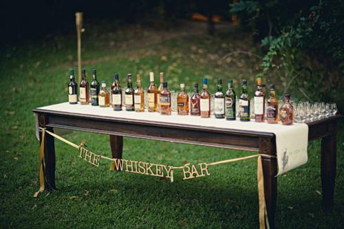 Whiskey, anyone? Image from DIY Weddings