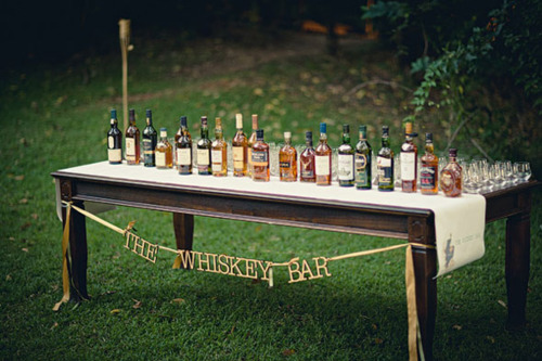 Whiskey, anyone? Image from DIY Weddings