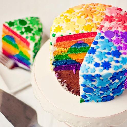 Rainbow cake via Pinterest