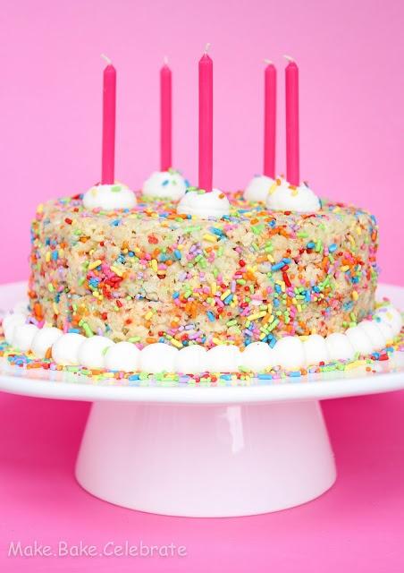 Rice crispie cake via Pinterest