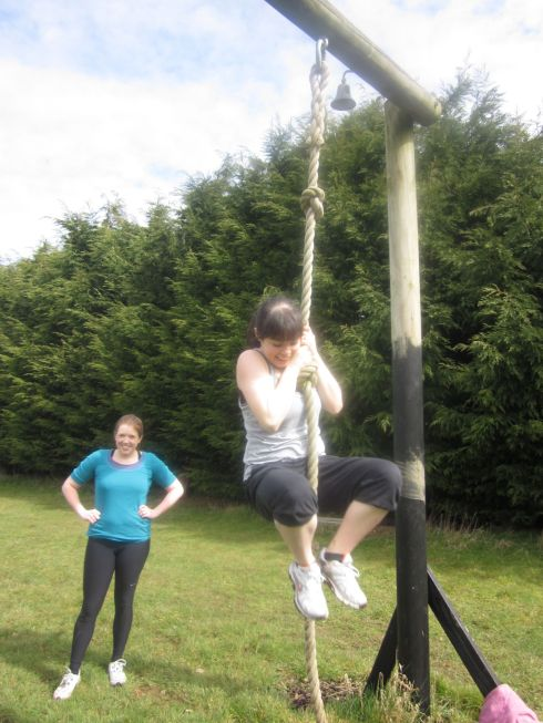 Rope climbing! (That's as far as I got.)