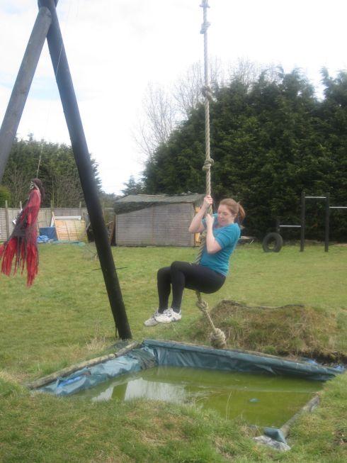 Rope-swinging across vast lakes!