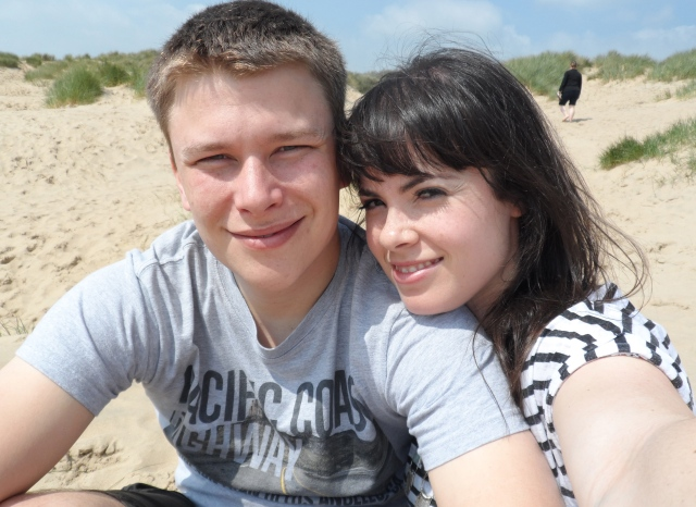 Canoodling on Camber Sands.