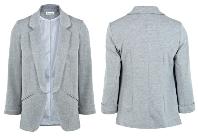 Grey Ponti Blazer by Miss Selfridge