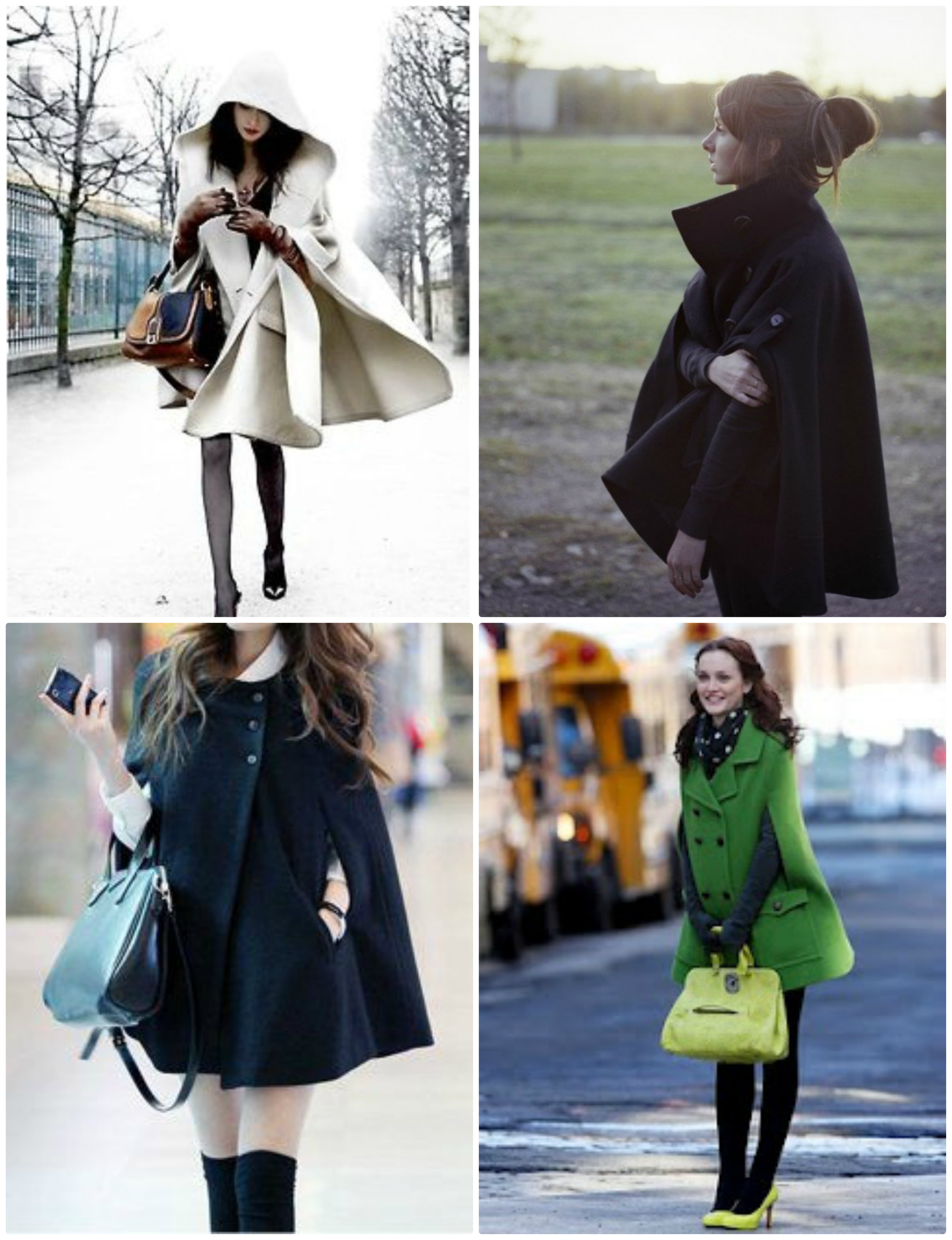 Cape coats of wonder. From L to R: 1, 2, 3, 4