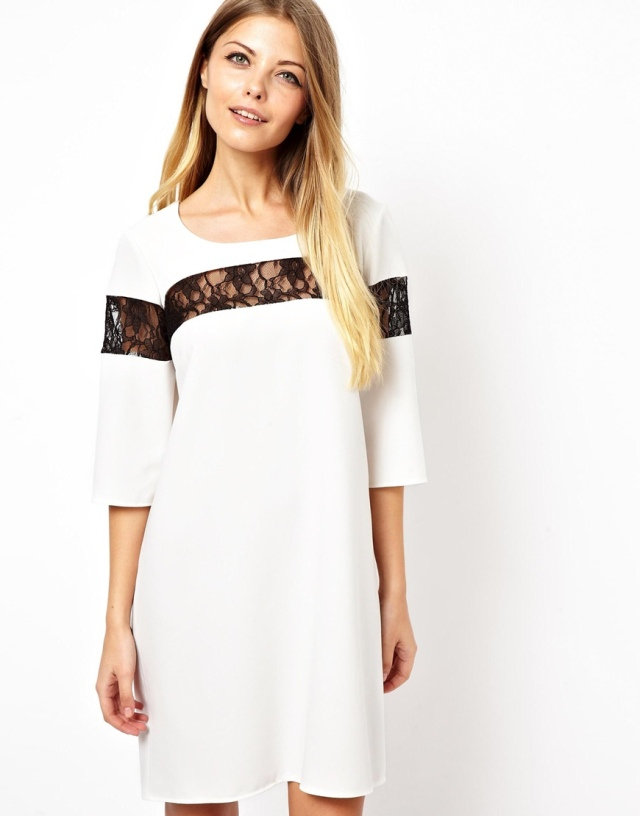 Love Shift Dress with Lace Insert from ASOS, £34