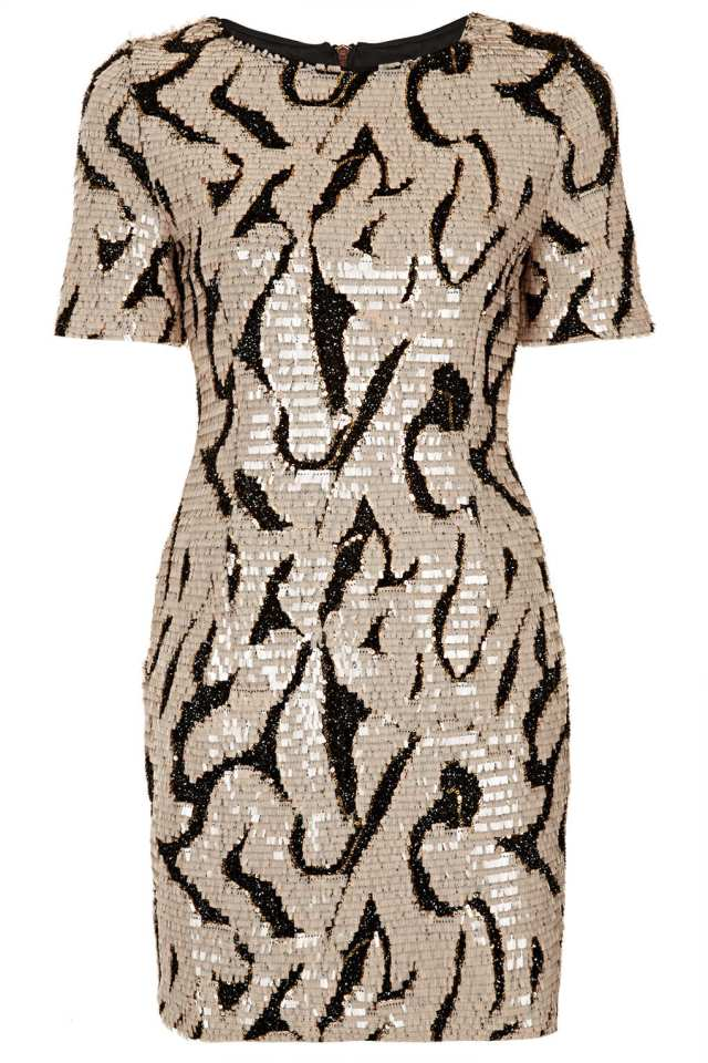 Sequin Tinsel Tshirt Dress from Topshop, £70