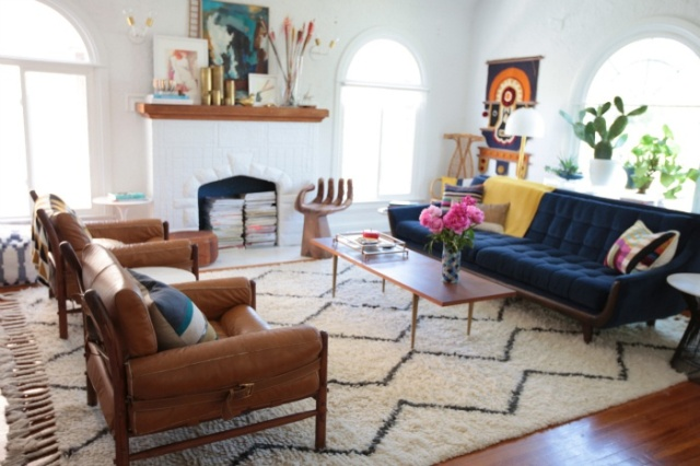 This is Emily Henderson's living room. Isn't it beautiful?