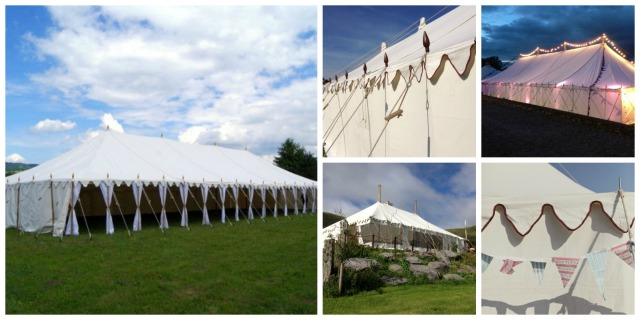 Vintage canvas tents from LPM Bohemia