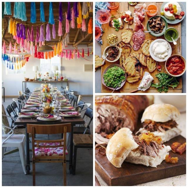 wedding food collage 2