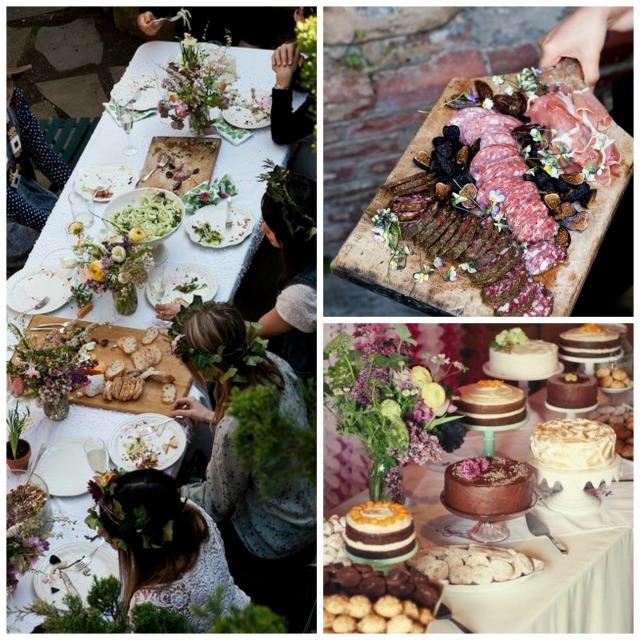 Wedding food ideas collage