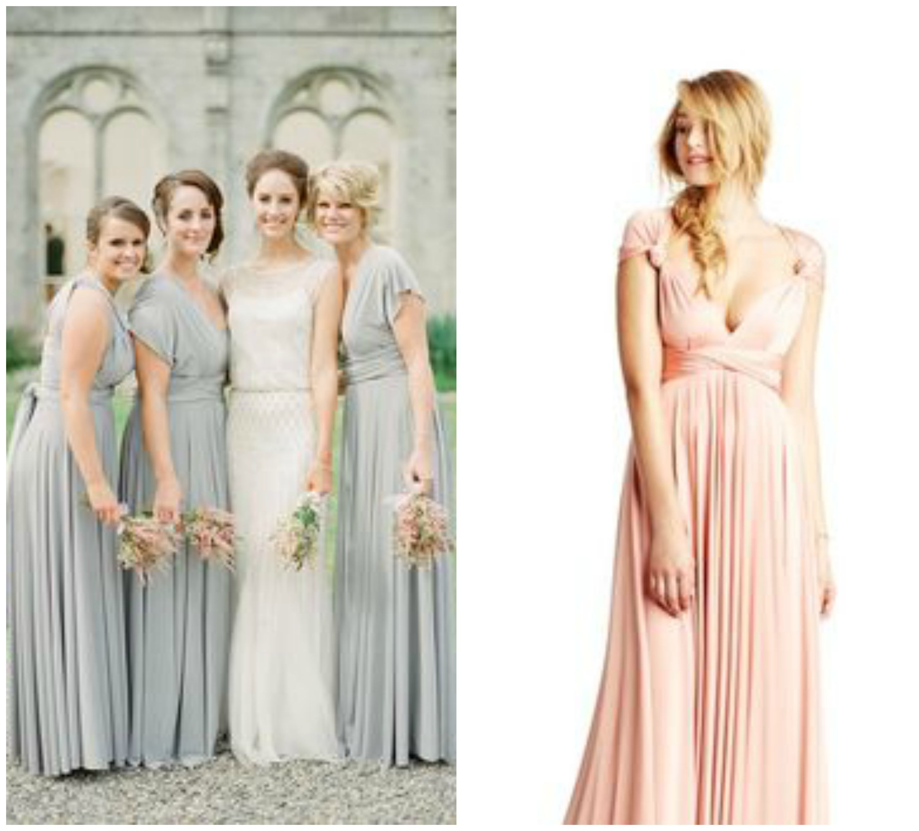Charmant Two Color Bridesmaid Dresses Zeitgenössisch - Brautkleider ...