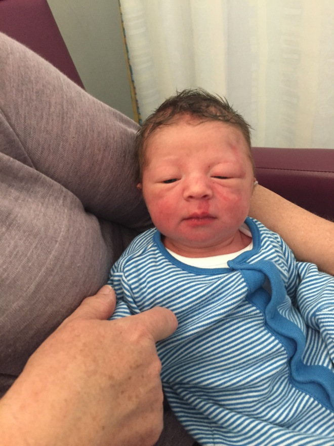 16 hours old and fresh out of the boxing ring.