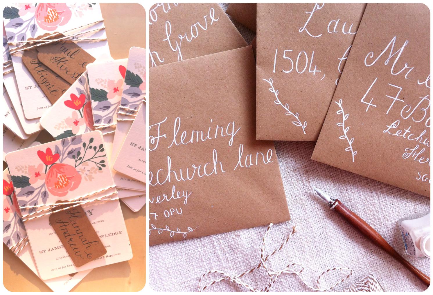 Invites and envelopes